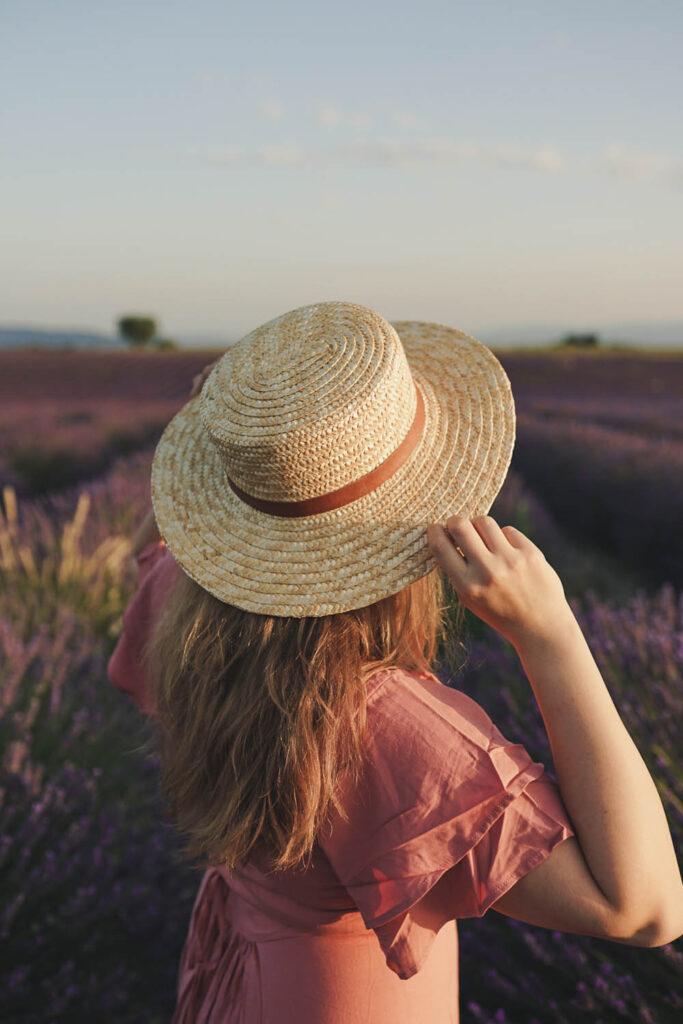 girl in the lavender fields