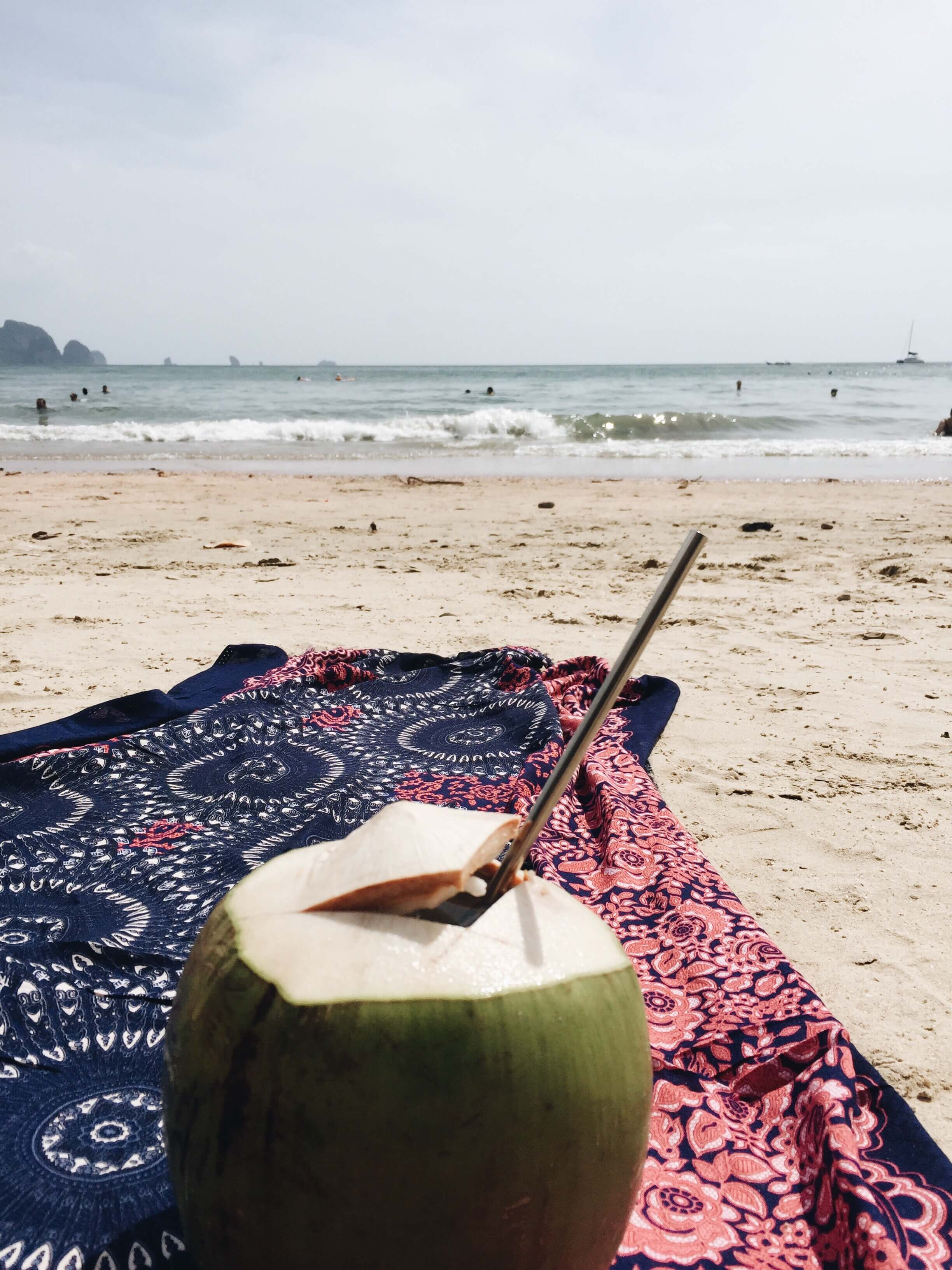 long drink in a coconut