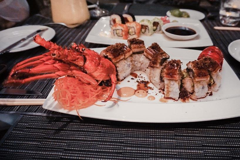 Lobster Sushi at Laguna Resort Bali