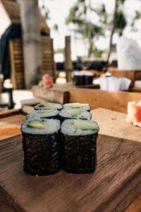 Sushi at the Finn's Beach Club Canggu - Best Restaurants in Bali