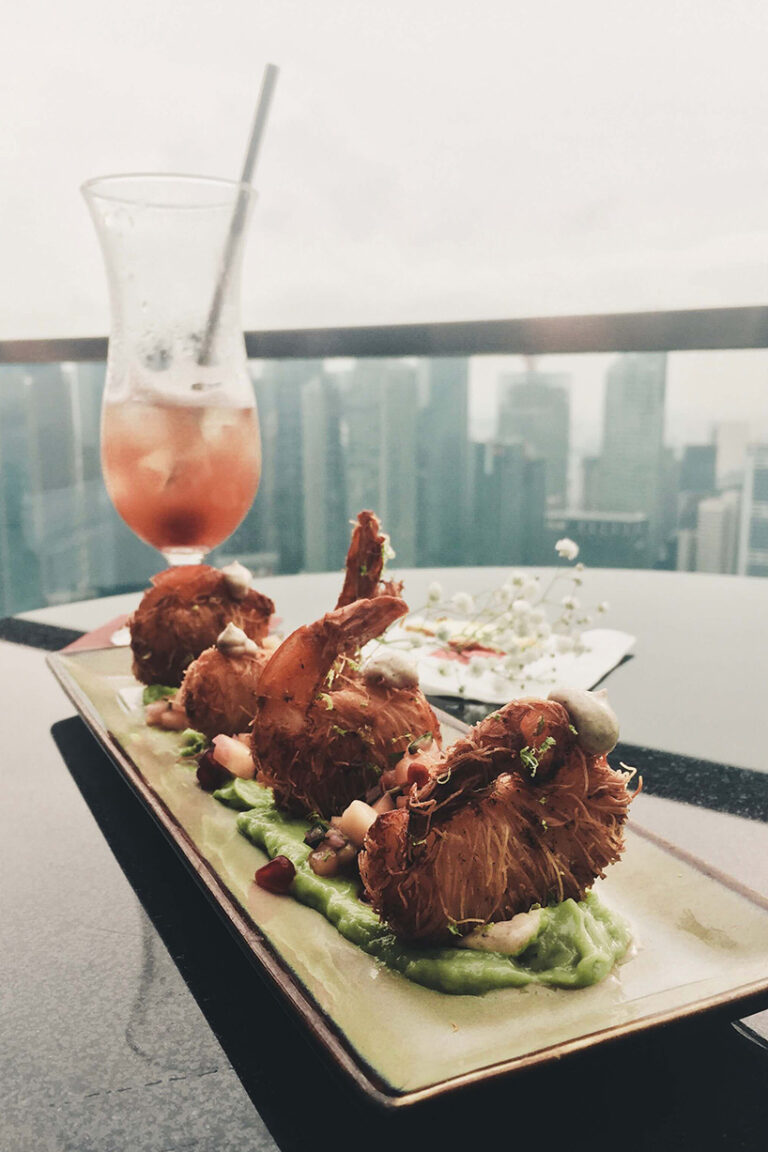 snacks on top of the marina bay sands, singapore