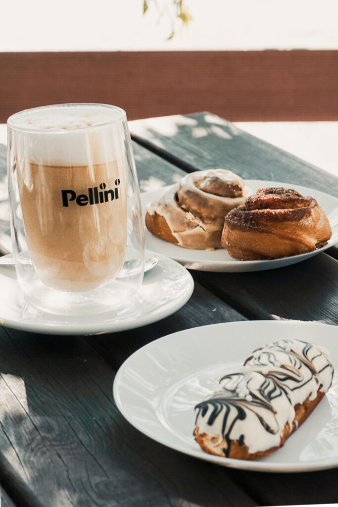 Eclairs and Pastries on a Table