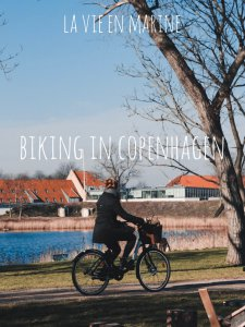 A girl riding a bike in Copenhagen - La Vie En Marine