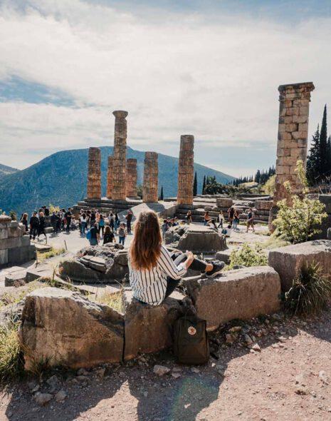 Remains of the Apollon Temple, Delphi - La Vie En Marine