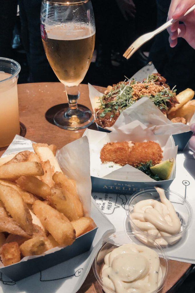 Platter of Belgian Fries