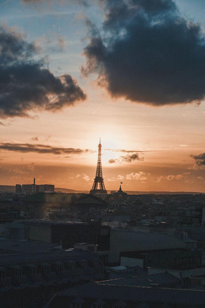 Eiffel Tower at Sun set