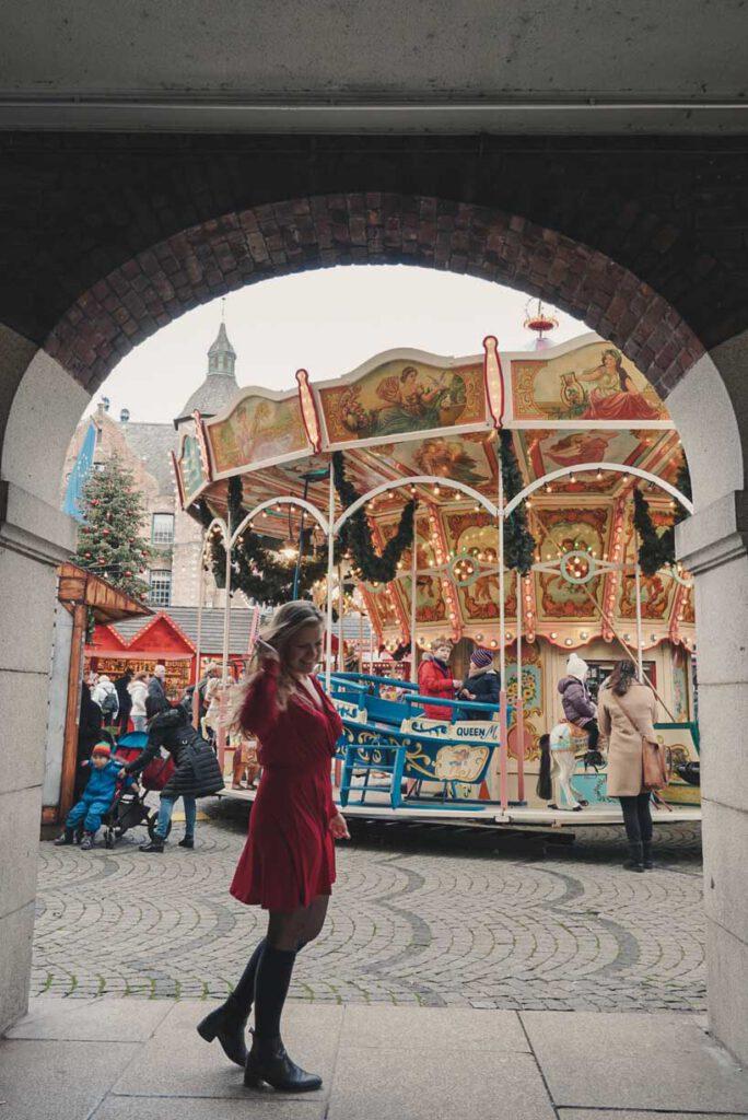Carousel at Rathausplatz Christmas in Düsseldorf