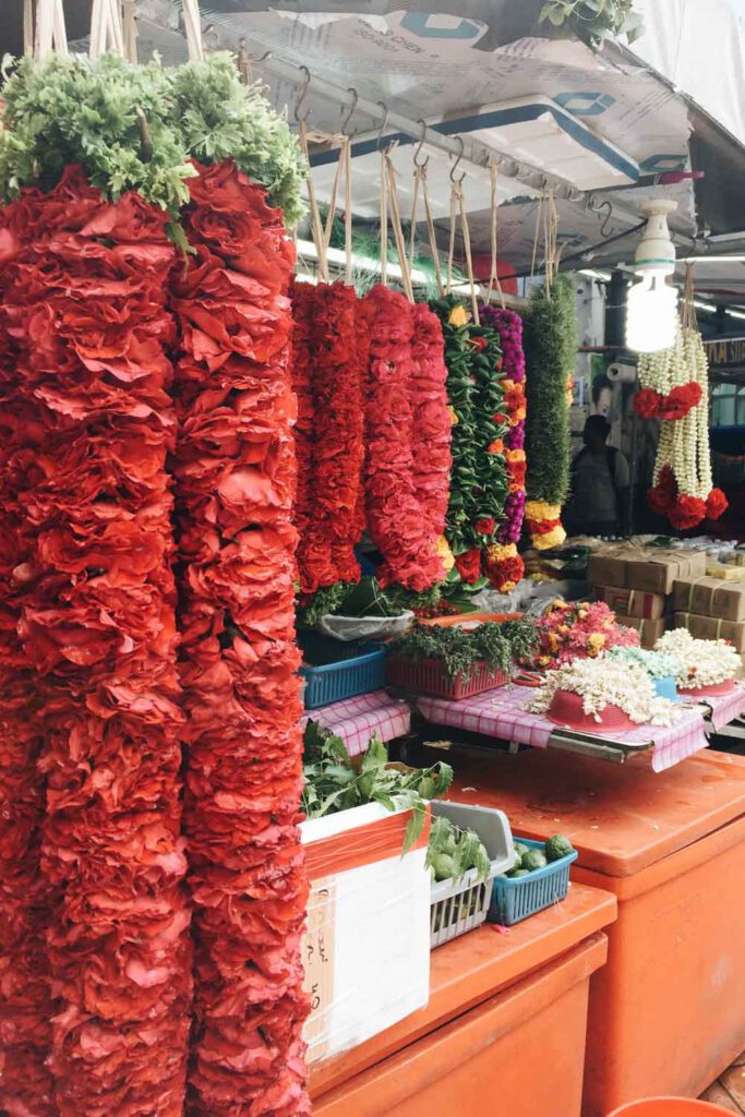 Bright flowers at Little India