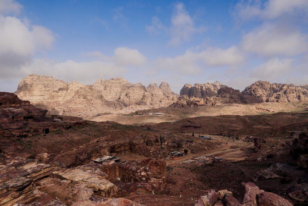 The vast desert of Petra, Wadi Musa