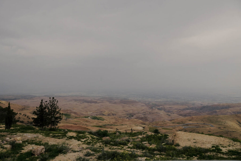 View upon the holy Land from Mount Nebo