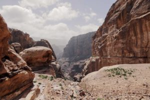 Magnificent view upon a valley in Petra