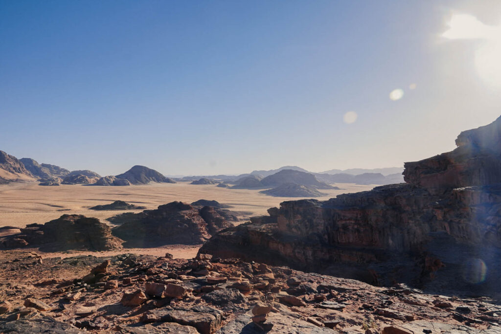 View upon a gorgeous valley in Wadi Rum