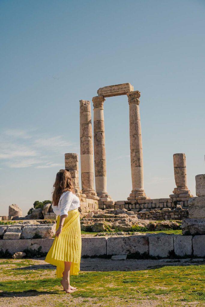 Amman Citadel - Jordan Itinerary - La Vie En Marine