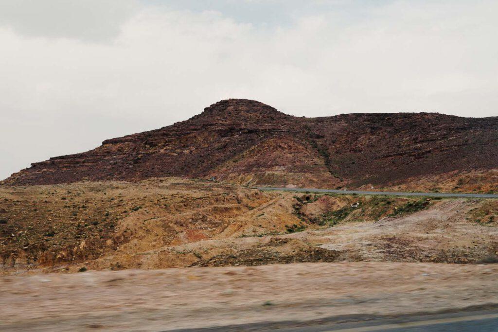 Red Mountain in Jordan