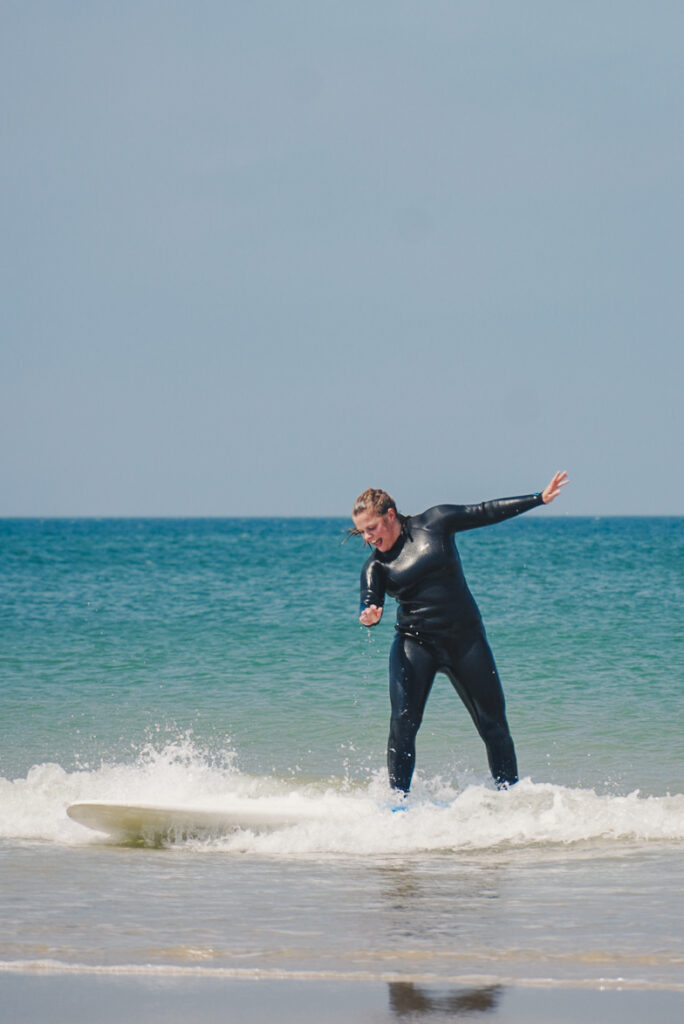 learning how to surf