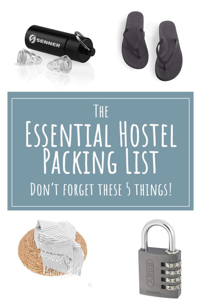 Essential Hostel Packing List - La Vie En Marine