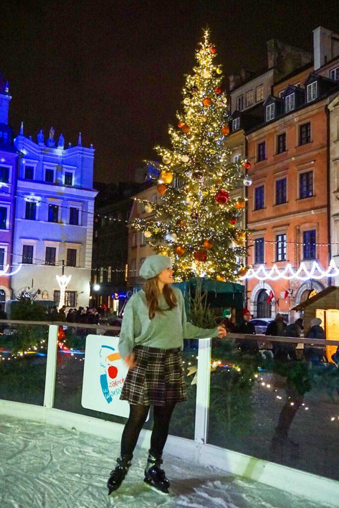 Ice Skating in Warsaw