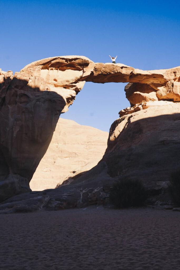 rock formations in wadi rum desert