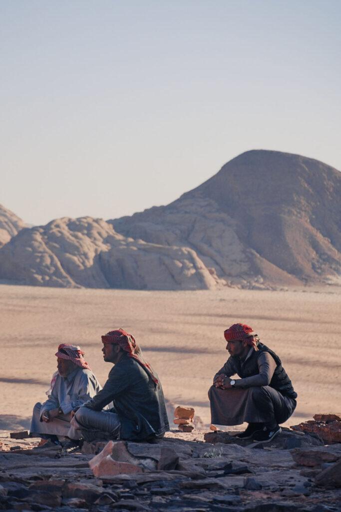 tea with the bedouins in wadi rum desert