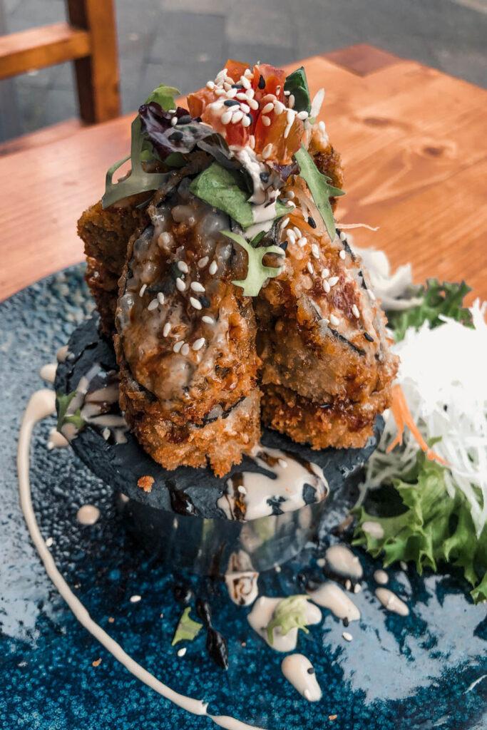 Spicy Tuna Baked Roll by Baba Sushi Düsseldorf