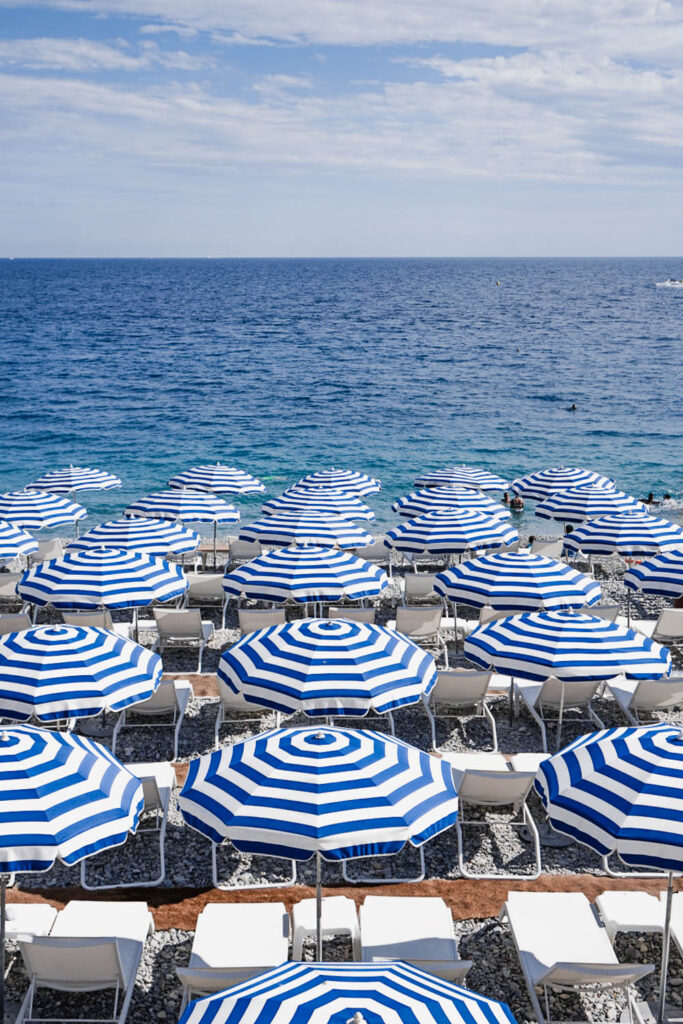 Aren't these umbrellas at Nice Beach the prettiest?
